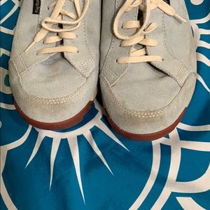 Simple Shoes - SIMPLE light blue suede sneakers 9.5 lace up comfy